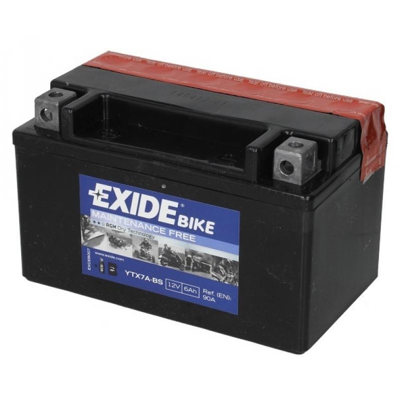 """АКБ мото 12V 7A """"EXIDE""""  150х87х93 мм"""