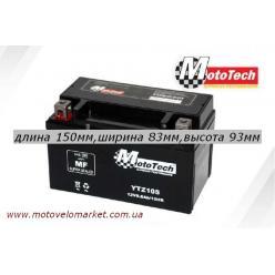 """АКБ мото 12V 8.6A """"MotoTech""""  YTZ10S"""