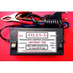"Зарядное устройство акб 12V 4-55А/час ""АИДА-3S""  режим хранения"