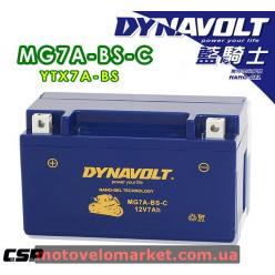 АКБ мото 12V 7A DYNAVOLT MG7A-BS-С(YTX7A-BS)151х87х94мм
