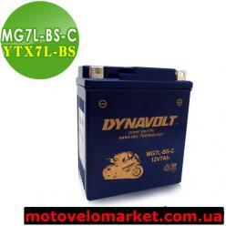 АКБ мото 12V 7A DYNAVOLT MG7L-BS-C(YTX7L-BS)110х68х130мм