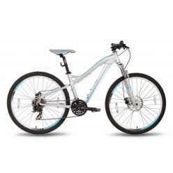 """Велосипед 26'' PRIDE """"Bianca"""" дисковый тормоз серо-бирюзовый матовый 2016"""