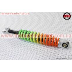 Амортизатор задний GY6/Honda - 320мм*d55мм (втулка 10мм / вилка 8мм) регулир., радуга