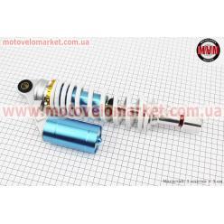 Амортизатор задний GY6/Honda - 315мм*d60мм (втулка 12мм / вилка 8мм) газовый регулир., белый