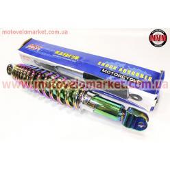 Амортизатор задний GY6/Honda - 320мм*d55мм (втулка 10мм / вилка 8мм) регулир., плазма