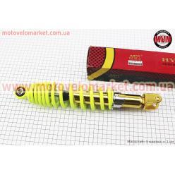 Амортизатор задний GY6/Honda - 310мм*d59мм (втулка 10мм / вилка 8мм) регулир., лимонный