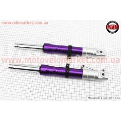 Амортизатор передний к-кт 2шт Honda DIO (под диск. торм.) фиолетовый