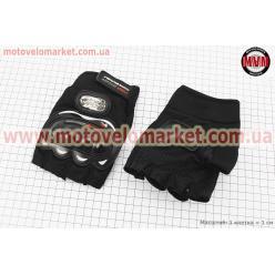 Перчатки без пальцев XL-черные