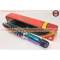 Амортизатор задний GY6/Honda - 290мм*d55мм (втулка 10мм / вилка 8мм) регулир., плазма