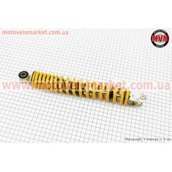 Амортизатор задний GY6/Honda - 290мм*d43мм (втулка 10мм / вилка 8мм), желтый