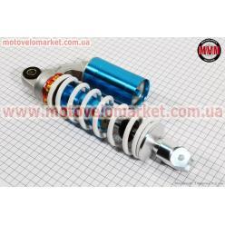 Амортизатор задний GY6/Yamaha - 270мм*d60мм (втулка 12мм / вилка 8мм) газовый регулир., белый