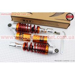 Амортизатор задний GY6/Yamaha - 270мм*d60мм (втулка 10;12мм / вилка 8мм) газовый регулир., красный к-кт 2шт