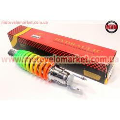Амортизатор задний GY6/Yamaha - 230мм*d55мм (втулка 10мм / вилка 8мм) регулир., радуга