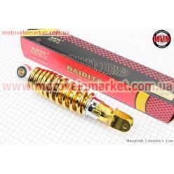 Амортизатор задний GY6/Yamaha - 230мм*d55мм (втулка 10мм / вилка 8мм) регулир., золотистый