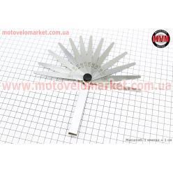 Щупы для регулировки зазоров клапанов  0,05-1,00mm, к-кт