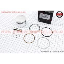 Поршень, кольца, палец к-кт Honda CH125 SPACY 52,40мм +0,50 (палец 15мм)