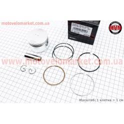 Поршень, кольца, палец к-кт Honda CH125 SPACY 52,40мм +0,75 (палец 15мм)