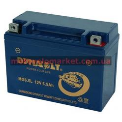 АКБ мото 12V 6.5A DYNAVOLT MG6.5L(YTX6.5L-BS)139х66х101мм