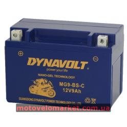 АКБ мото 12V 9A DYNAVOLT MG9-BS-С(YTX9-BS) 151х87х105мм