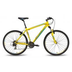 """Велосипед 27,5'' PRIDE """"XC-650 V"""" ободные V-brake желто-синий матовый 2016"""
