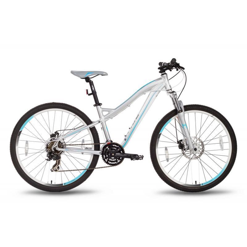 """Купить Велосипед 26'' PRIDE """"Bianca"""" дисковый тормоз серо-бирюзовый матовый 2016"""