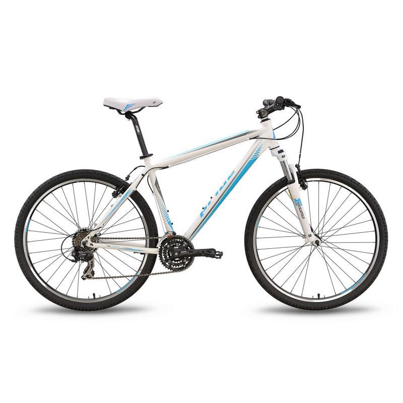 """Купить Велосипед 27,5'' PRIDE """"XC-650 V"""" ободные V-brake бело-синий матовый 2016"""