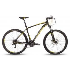 """Велосипед 27,5'' PRIDE """"XC-650 RL"""" дисковый тормоз черно-желтый матовый 2016"""